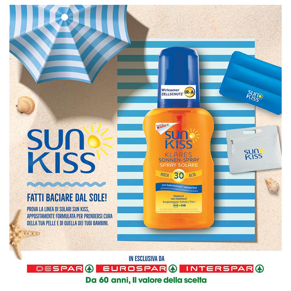 Offerta Sun Kiss Despar - Fatti baciare dal sole - Valida dal 15 luglio al 31 dicembre 2021